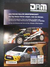 Flyer DRM, Deutsche Rallye Meisterschaft 2013