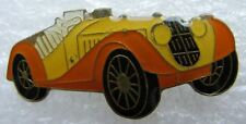 Pin's Voiture Décapotable ancienne orange Shell #A2