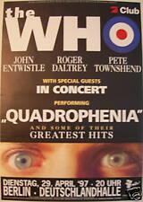 THE WHO CONCERT TOUR POSTER 1997 QUADROPHENIA