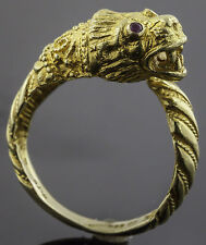 Ilias Lalaounis 18K Gold Dragon Ring with Rubies