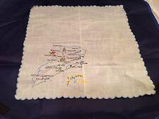 Vintage Ladies Handkerchief Hankies Hanky State Of Kentucky Embroidered Clean!