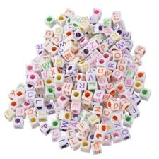1000 Pcs Acrylic Spacer Beads Cube Mixed 6mmx6mm(2/8 inch x2/8 inch) P4S8 Z K9C9