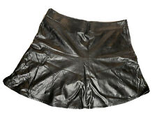 Ann Taylor Faux Leather Skirt Womens 18 Black 100% Polyester Plus Size NEW NWT