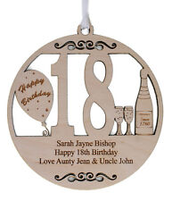 PERSONALISED 18TH BIRTHDAY PLAQUE - ENGRAVED WITH THE WORDING OF YOUR CHOICE