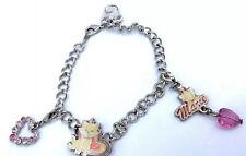 "Marie Aristocats Silver Tone Charm Bracelet Disney 7.5"" Length"