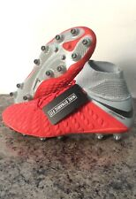 Nike Hypervenom Phantom III Elite Red/Silver Soccer Cleats AJ3803-601 Size 8