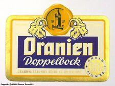 Germany 1960s Dillenburg Oranien Doppelbock Bier Beer Label Tavern Trove