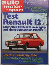 Auto Motor Sport 9/1970, Volvo 164, Pontiac GTO, Renault 12,