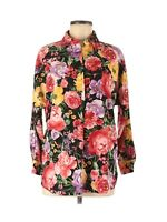 Catherine Malandrino Womens Floral Print Multicolor Long Sleeve Blouse Size XS