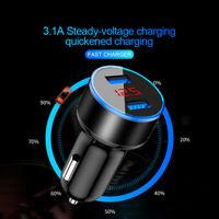 Dual Ports 3.1A USB Car Auto Cigarette Charger Lighter Digital LED Voltmeter 1x