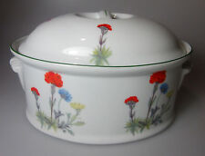 Louis Lourioux Wild Flower Oval Covered Casserole NEW