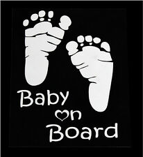 Foot Print Baby on Board Car SUV Body/Window/Rear Trunk Vinyl Decal Sticker MH
