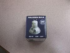 25 halogen bulbs gu-10 50w 120v. box of 25