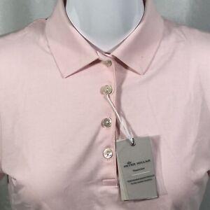 Peter Millar 4 Button Polo Short Sleeve Shirt Women's XS Light Pink NWT