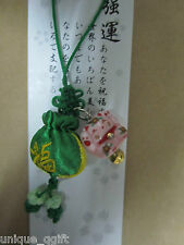 handmade Maneki Neko Lucky Cat Blessing Bag Phone Strap/key/bag charm Ca un37