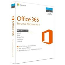 Microsoft Office 365 Personal (DE) 1 Benutzer | 1 PC/Mac + 1 Tablet PKC BOX