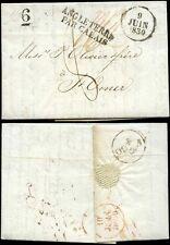 FRANCE 1830 PAR CALAIS TRANSIT..LETTER + PRINTED CURRENCY UPDATE...JOHN WOOLLETT