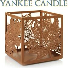 Yankee Candle AUBURN FLICKER LACY LEAVES Jar Candle Holder ☆BRAND NEW☆