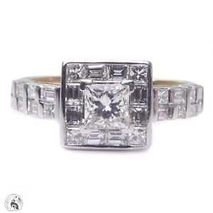 Stunning estate solid 18ct gold diamond engagement ring valued $7,000 !