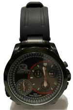 Reactor Mens Watch 85801 Source Black Dial Chronograph Dbl Time Rubber Bracelet