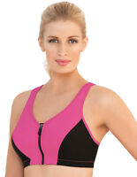 BRAND-NEW Factory-Sealed AUTHENTIC Glamorise PINK SPORT Bra (FRONT-CLOSE ZIP)
