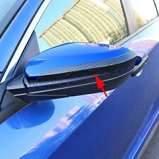 Carbon Fiber Look Glossy Black Car Rearview Strip Part Trim For 10th Honda Civic