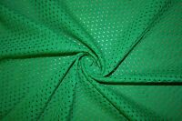 Light Green Athletic Sports Mesh Knit Polyester Football Jersey Fabric BTY