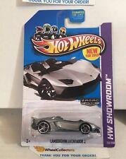 Lamborghini Aventador J #180 * ZAMAC * 2013 Hot Wheels * WA18