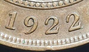 ERROR Australian 1922 Penny, Low 9 leans right Rare