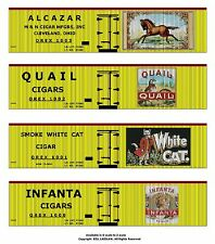 Tobacco Road all 36 boxcars, On30 scale printed reefer sides