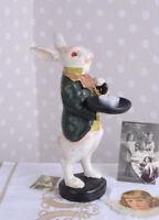 Teelichthalter Alice im Wunderland weisses Kaninchen Kerzenleuchter Kerzenhalter
