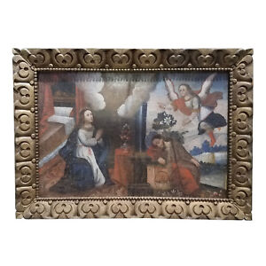 17th/18th C. Spanish Colonial Religious Painting