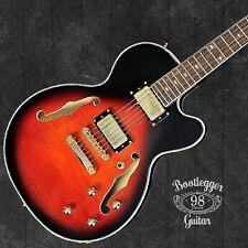 Bootlegger Guitar DeVille  Semi Hollow With Case  Flask Factory B Stock