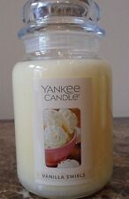 Yankee Candle  Vanilla swirls 22 oz. New Single.  FREE SHIPPING.