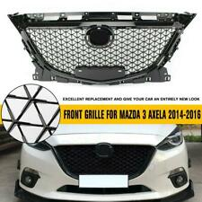 For Mazda 3 Axela 2014 - 2016 ABS Plastic Black Front Bumper Grill Upper Grille