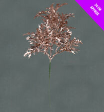 6 x Christmas Rose Gold Glitter Fern Picks christmas Tree Wreath Decorations