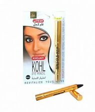 3x Khojati Kajalstift Delux schwarz natürlicher Eyeliner Kajal Orient Kina Khol