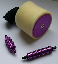 1/8 RC Nitro Kit Air Filter/Fuel Filter/Fuel Cooler Purple Alloy
