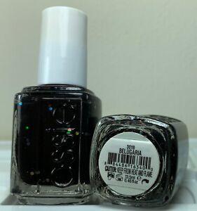 Essie Nail Polish * Belugaria #3019 * Black with Glitter * New Lacquer 0.46oz.