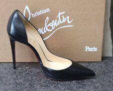 NIB Christian Louboutin IRIZA 100 NAPA SHINY BLK D'ORSAY CLASSY Pumps Shoes 37.5