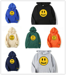 Drew Sweatshirt House Justin Bieber Happy Face Hailey Baldwin Hoodie Casual Gift