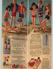 1965 PAPER AD 5 PG Barbie Skooter Skipper Ricky Dolls House Schoolroom Outfits