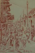 Rötelzeichnung  China Reise - Auguste Reissmüller 1869 -1958 München