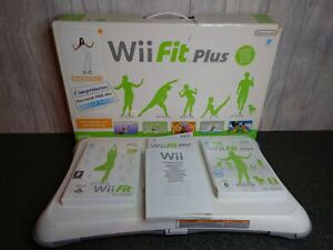 Nintendo Wii Fit Balance Board With Wii Fit Plus & Manual + rechargeable battery