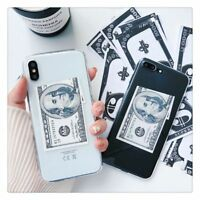 Dollar Money Case For iPhone XS Max X XR 6 S 7 8 Plus Cute Cartoon Fashion Cover