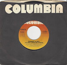 1982 Columbia Records 45 RPM Stereo Barbra & Neil You Don't Bring Me Flowers
