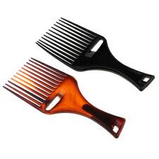 2pcs afro cheveux pick peigne ascenseur coiffeur coiffant démêlant large