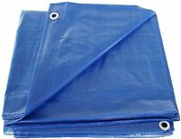 P-Line All Purpose Heavy Duty Blue Tarps Water Proof (Many Sizes Available)
