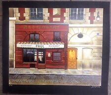 "Andre Renoux Restaurant Paul serigraph 18""x22"" signed"