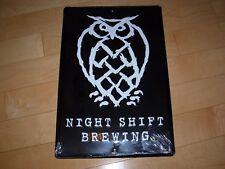 NIGHT SHIFT snatilli whirlpool METAL TACKER SIGN craft beer brewery brewing